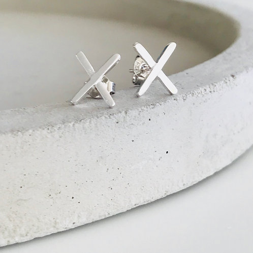 X Studs Sterling Silver