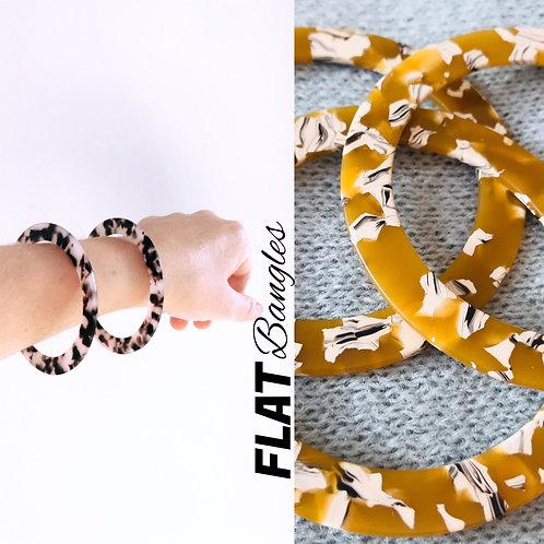FLATS - acrylic tortoiseshell bracelets