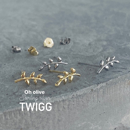 OH olive stud earrings