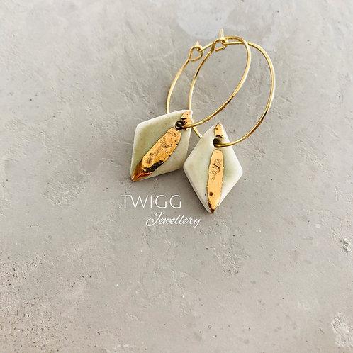 Lustre Diamond Porcelain Earrings