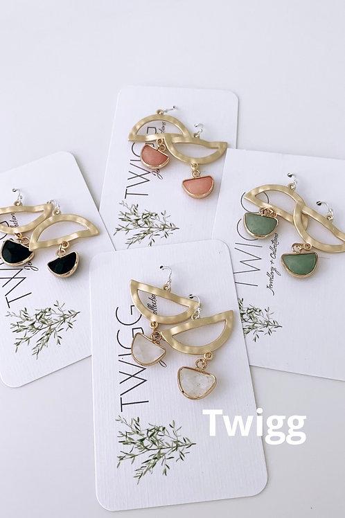 PIPPA gem droplet earrings