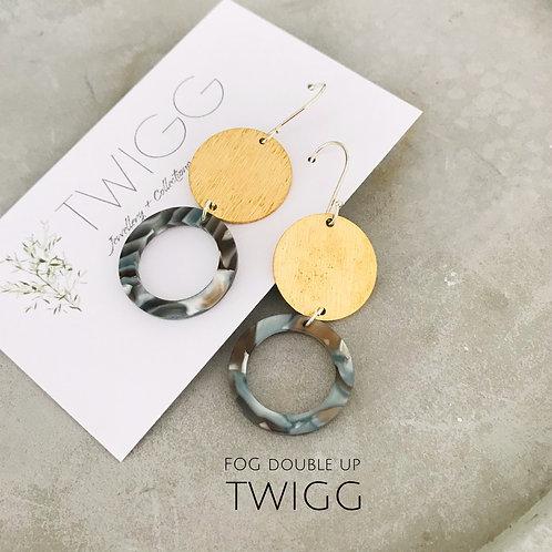 FOG double drop earrings