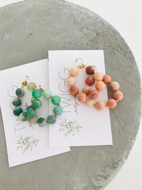 Lopez stone earrings