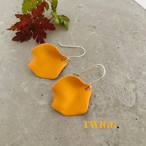 Mustard petal earrings