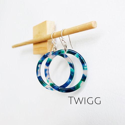 Infinity Blue tortoiseshell earrings
