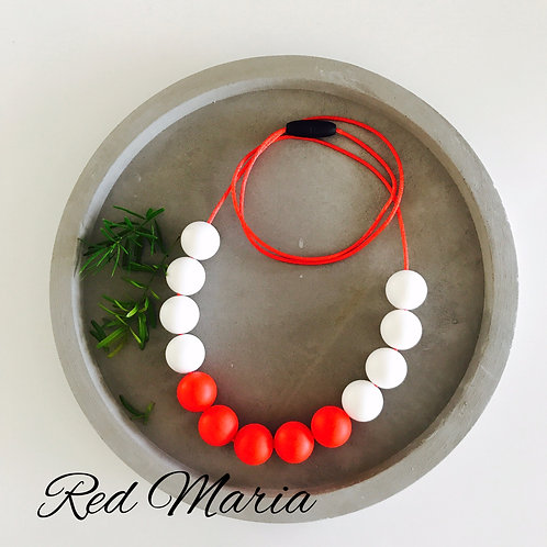 Maria Red Necklace