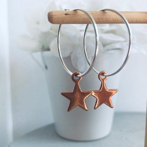 copy of reach for the stars ✨ hoop earrings