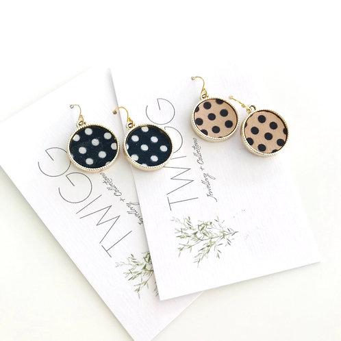 Dotty disc earrings