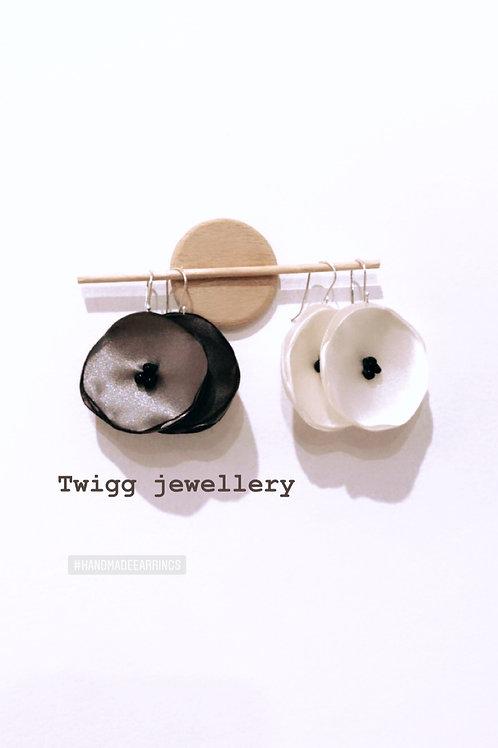Poppy Fabric earrings