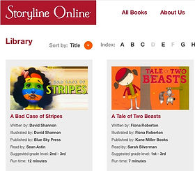 Great selection of classics -animated and read aloud.