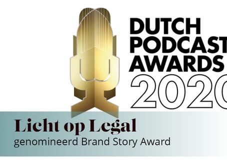 Licht op Legal genomineerd voor Dutch Podcast Awards