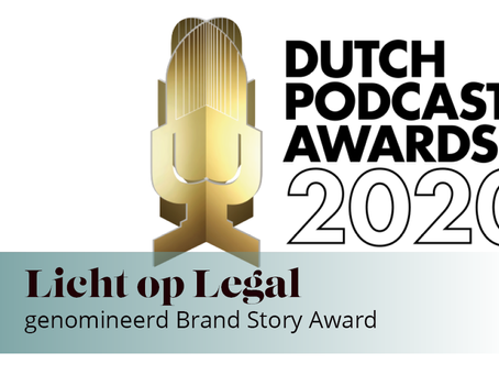 Licht op Legal genomineerd voor Dutch Podcast Awards