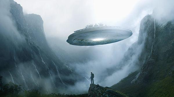 Spaceship Landing on Earth