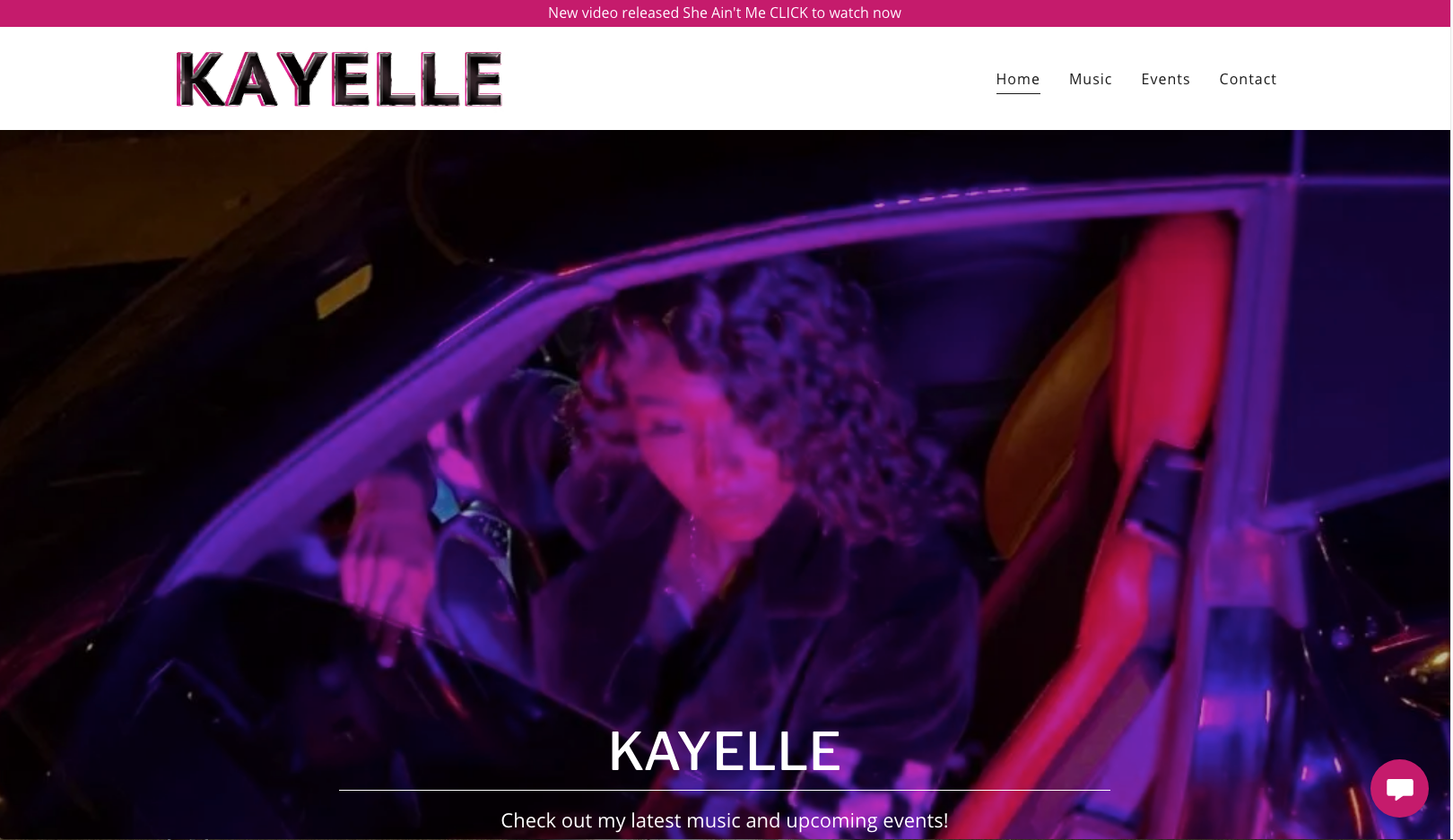 Kayelle Website - GoDaddy template