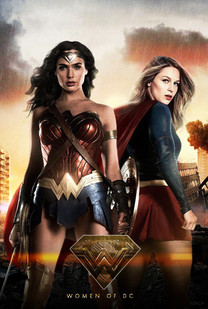 Wonder Woman and Supergirl fake movie poster