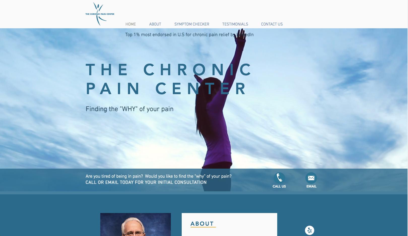 The chronic pain center website