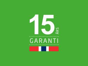 15 års garanti