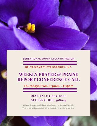 SAR Weekly Thurs Prayer Call 630am - 715