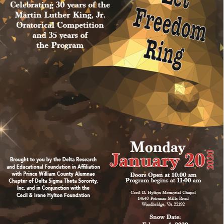30th Annual Dr. Martin Luther King Jr. Oratorical Program Registration