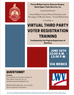 Virtual Third Party Voter Registration Training