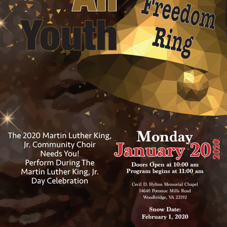 The 2020 Martin Luther King, Jr. Community Choir Needs You!