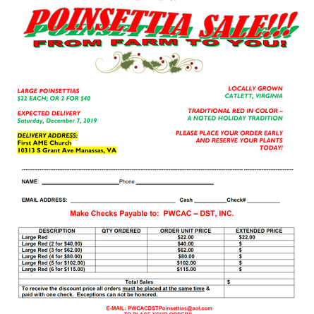 Poinsettia Sale!!!