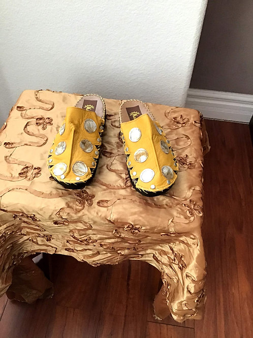 Yellow croc slides