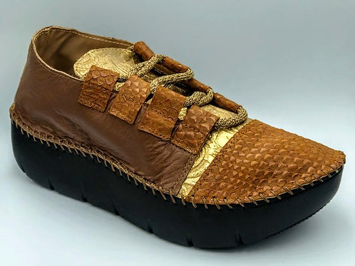 Earthy multi oxford tennis shoe