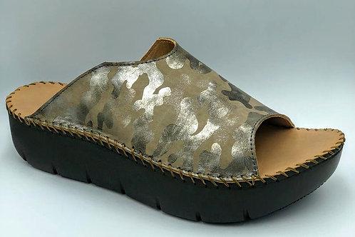 Silver Camouflage open toe slide