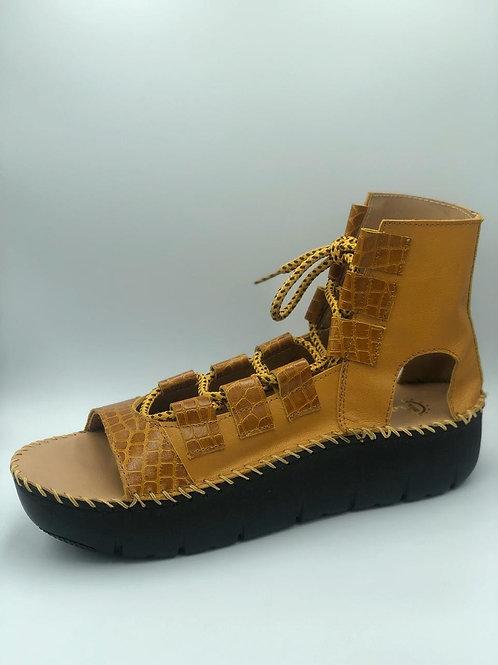 Beige open toe gladiator