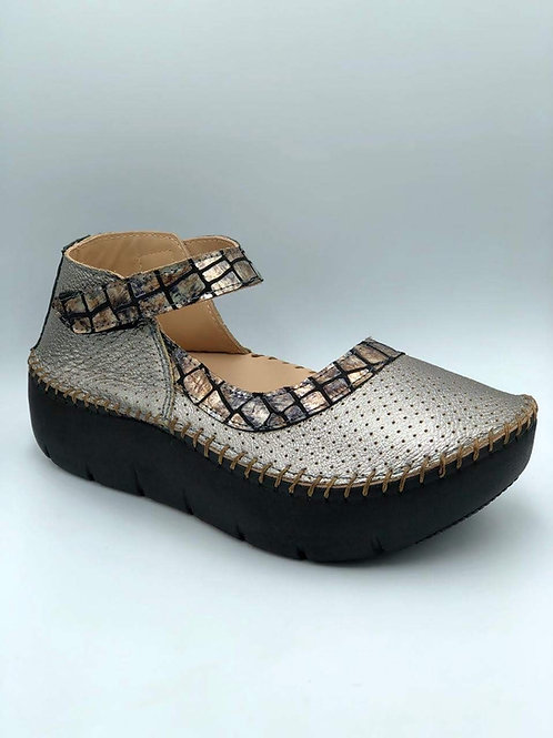 Peuter silver half moon shoe
