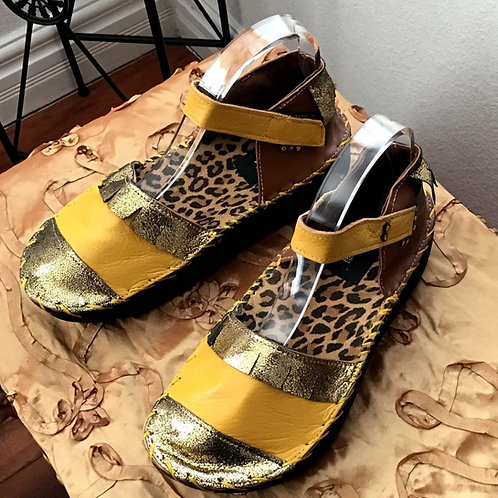Yellow/gold multi sandal