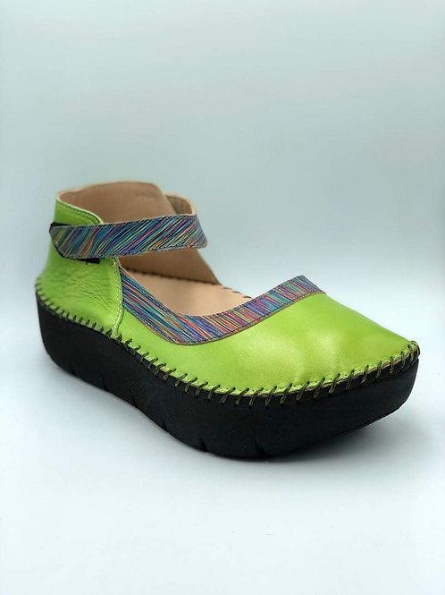 Lime green half moon shoes