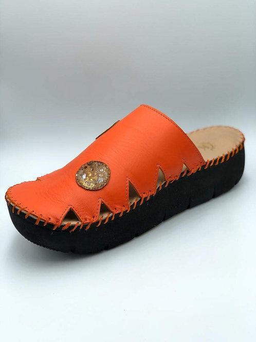 Burnt orange croc slide