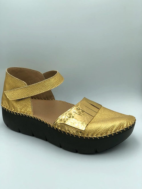 Metallic gold sandals