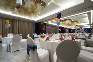 Party Venue Dressed Up With Chair Covers