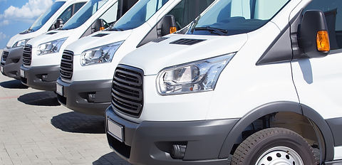 Line of commercial white vans Orchard Auto Mobile Car Valeting 2021 Edinburgh