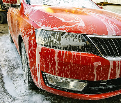 Executive vehicle being washed by Orchard Auto Mobile Car Valeting 2021 Edinburgh