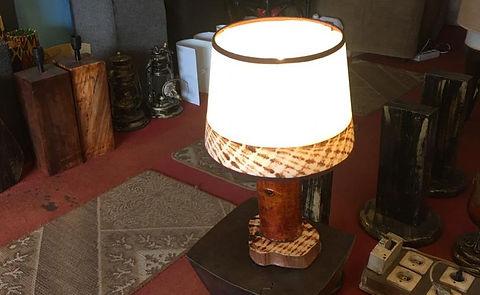 Rustic lamp by Ayoka Design