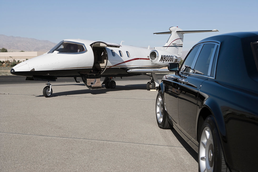 Airport runway collection for celebrity client Middlesbrough 2021 ACS Chauffeuring