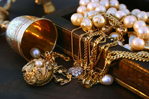 Mixture of gold jewellery by Ayoka Design