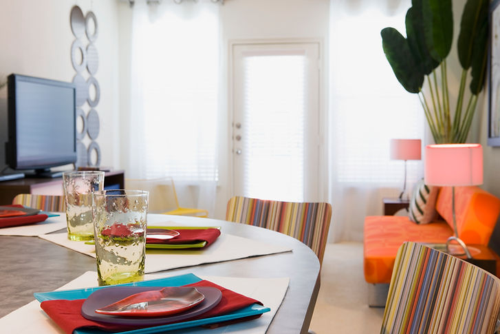 Table setting decorated with fabrics by Ayoka Design