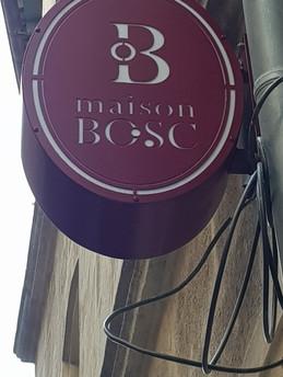 Enseigne Maison BOSC par découpe plasma