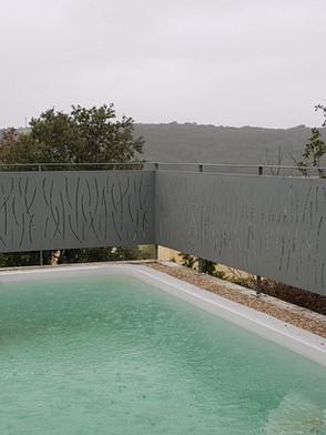 Motifs par découpe plase Brise vue autour piscine