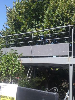 terrase metalique et garde corps