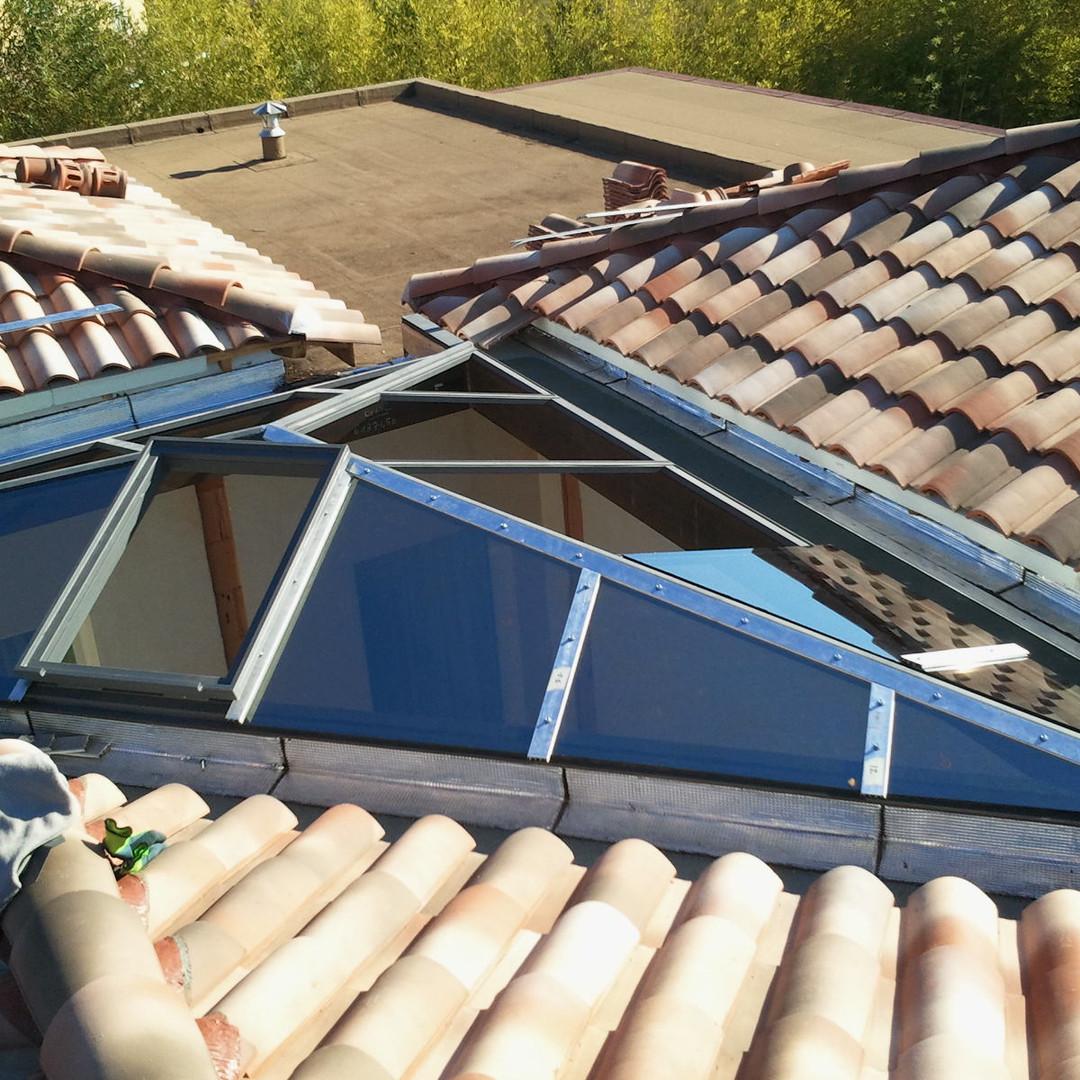 Verrière de toit sur mesure