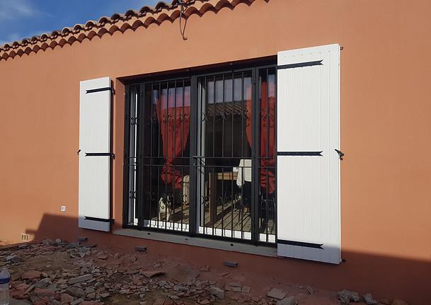 Grille de protection pour portes fenêtres