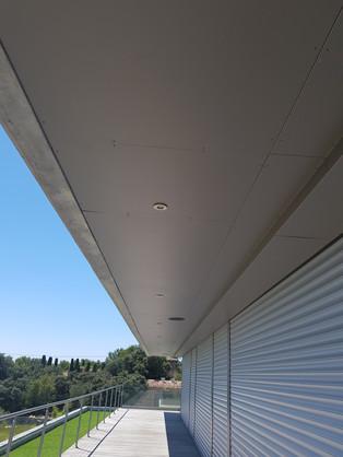 Habillage du faux plafond