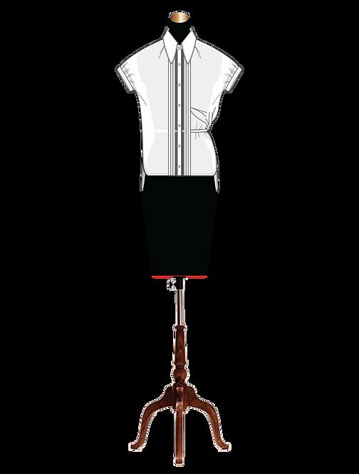 """""""Eulalie"""" unique draped side button down shirt"""
