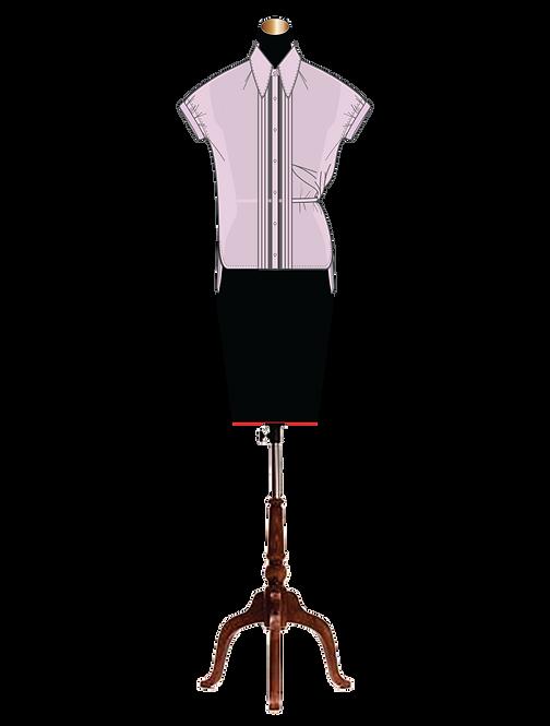 """""""Eulalie"""" unique draped side button-down shirt"""